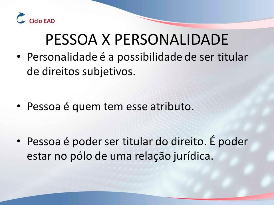PESSOA X PERSONALIDADE