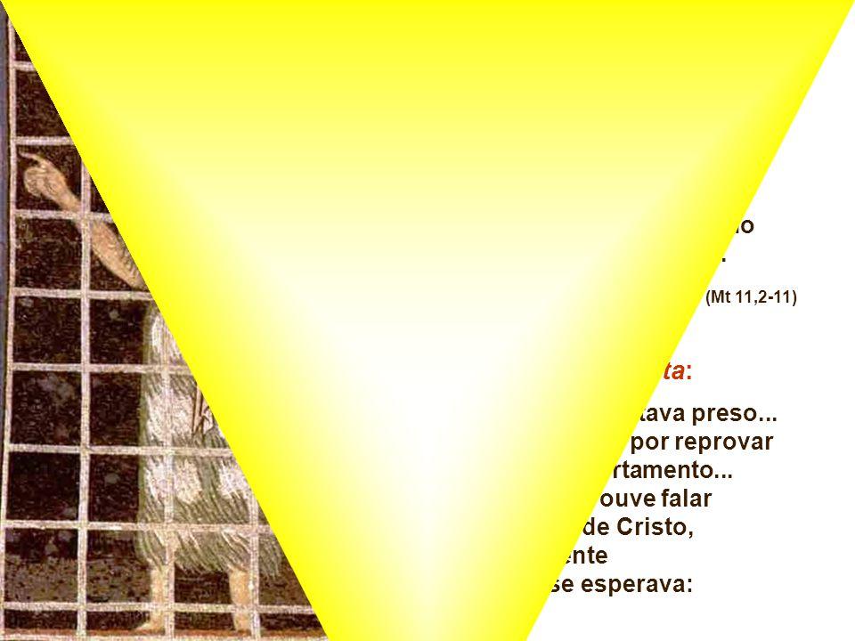 1. A PERGUNTA de João Batista: Na 2ª Leitura, Tiago convida à espera