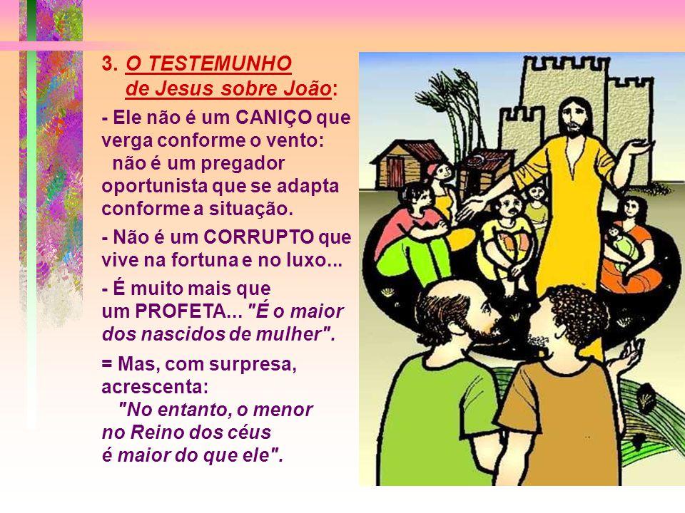 3. O TESTEMUNHO de Jesus sobre João: