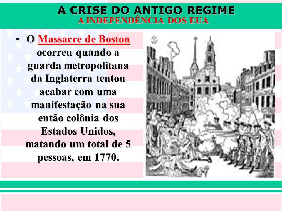 O Massacre de Boston ocorreu quando a guarda metropolitana da Inglaterra tentou acabar com uma manifestação na sua então colônia dos Estados Unidos, matando um total de 5 pessoas, em 1770.
