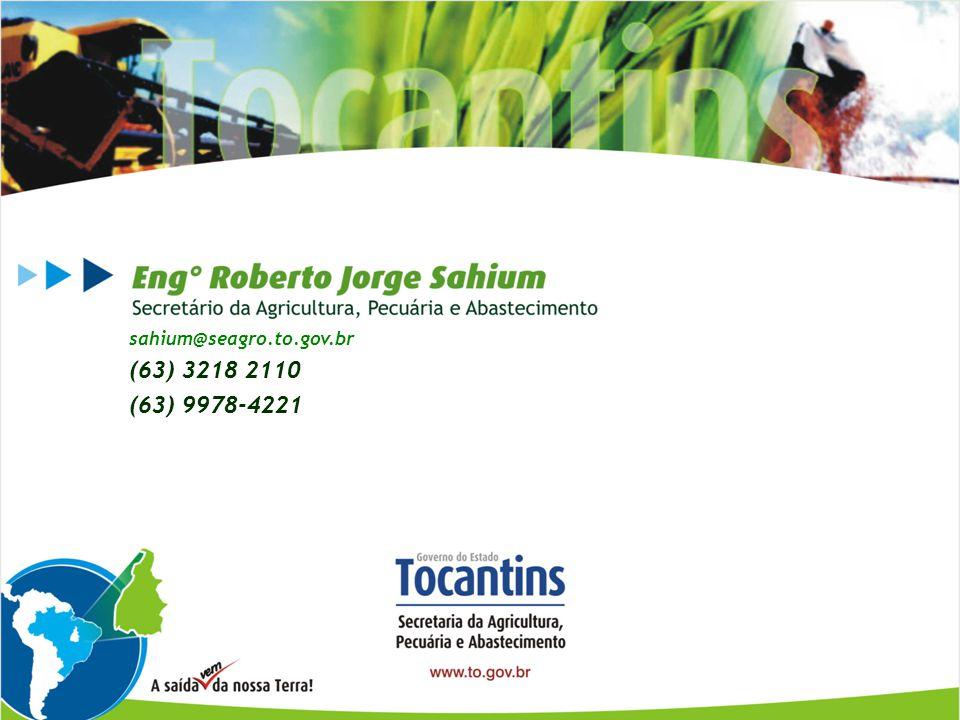 sahium@seagro.to.gov.br (63) 3218 2110 (63) 9978-4221 Obrigado!