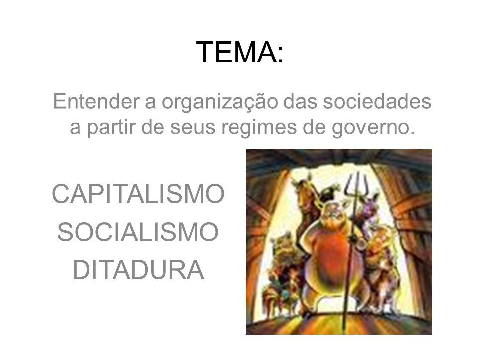 TEMA: CAPITALISMO SOCIALISMO DITADURA