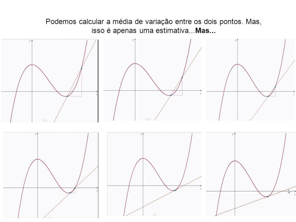 Podemos calcular a média de variação entre os dois pontos