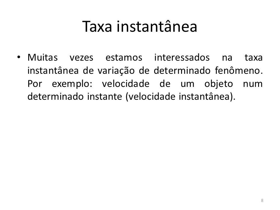 Taxa instantânea
