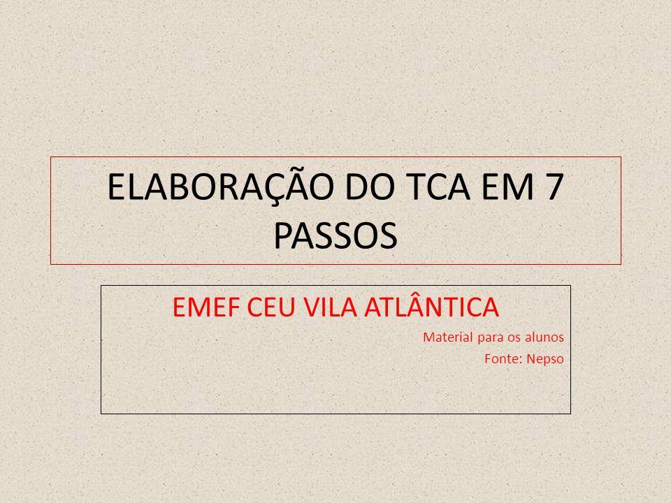 ELABORAÇÃO DO TCA EM 7 PASSOS
