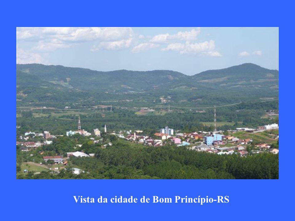 Vista da cidade de Bom Princípio-RS