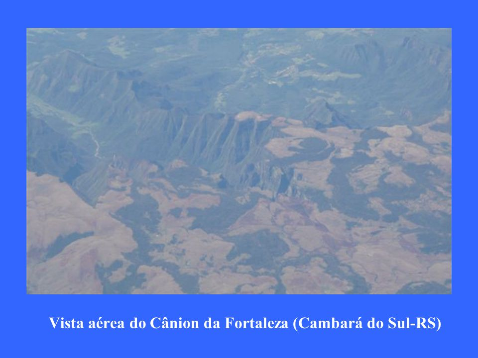 Vista aérea do Cânion da Fortaleza (Cambará do Sul-RS)