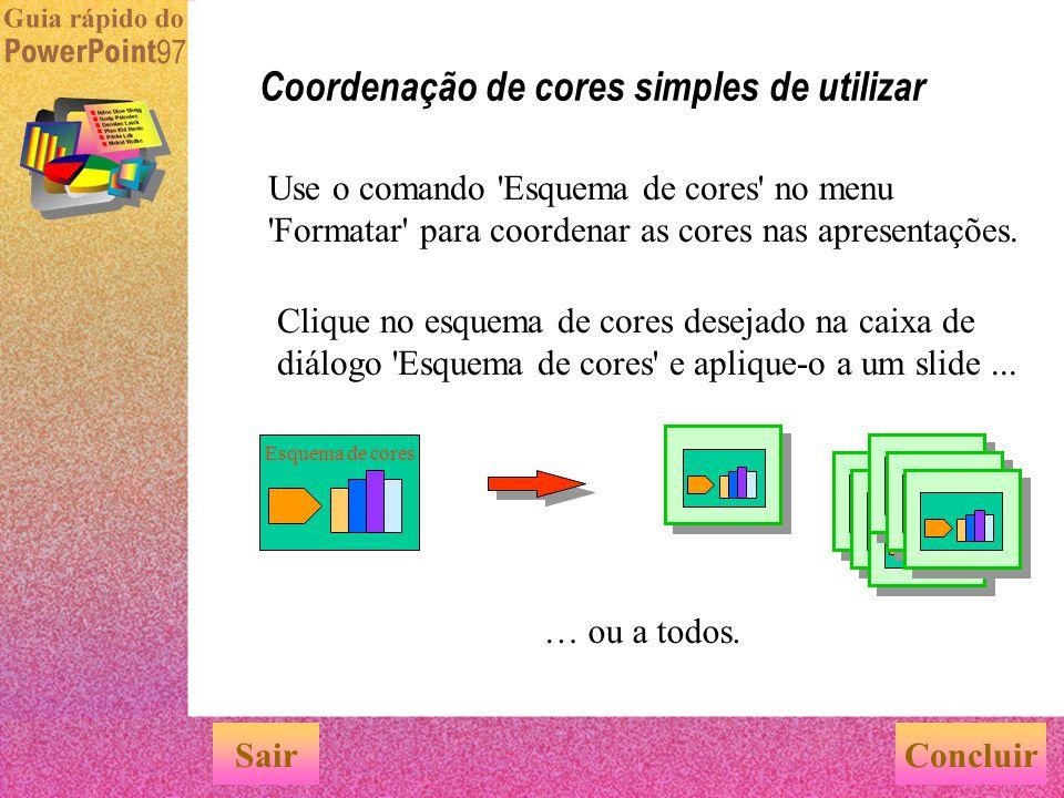 Coordenação de cores simples de utilizar