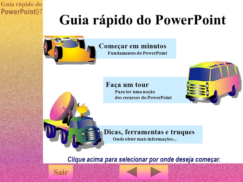 Guia rápido do PowerPoint