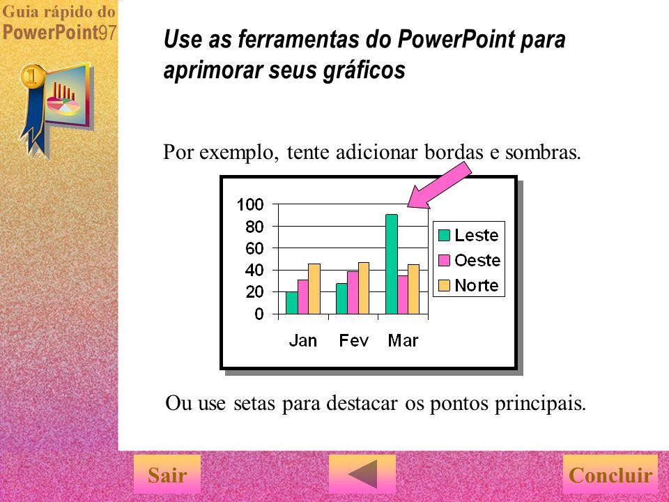 Use as ferramentas do PowerPoint para aprimorar seus gráficos