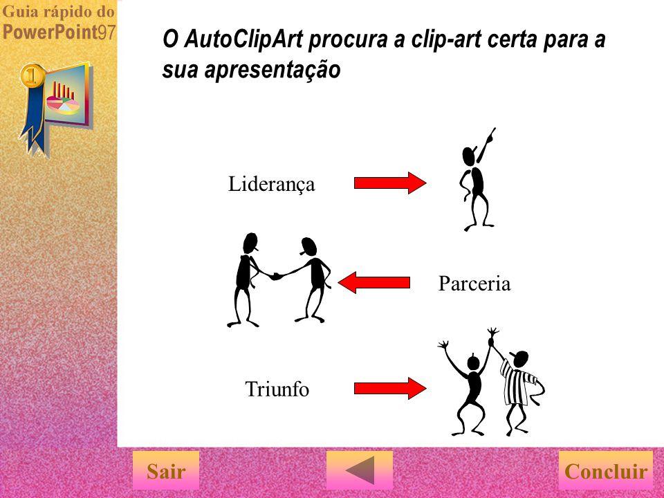 O AutoClipArt procura a clip-art certa para a sua apresentação