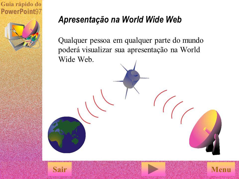 Apresentação na World Wide Web