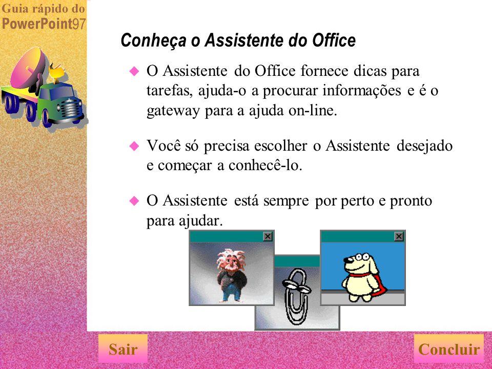 Conheça o Assistente do Office