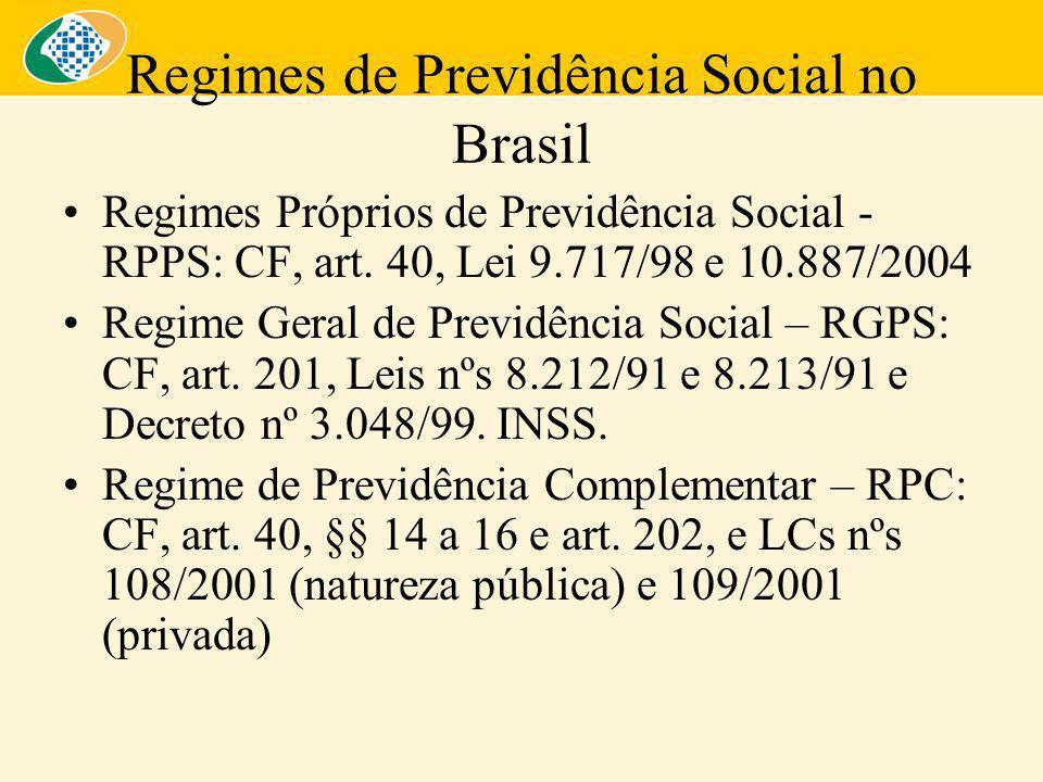 Regimes de Previdência Social no Brasil