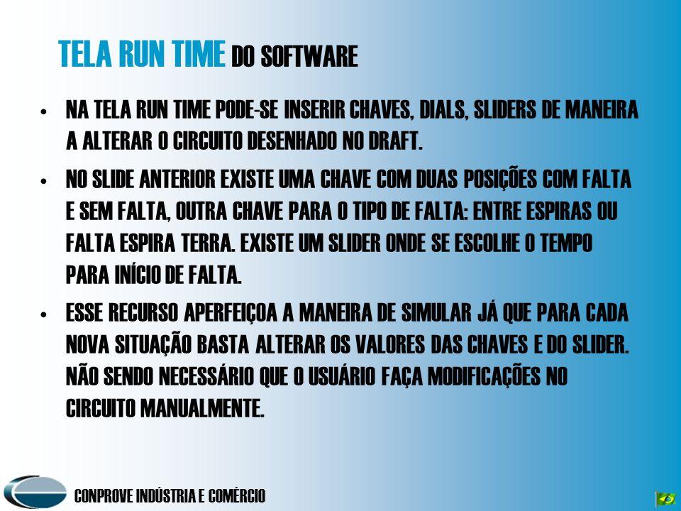 TELA RUN TIME DO SOFTWARE
