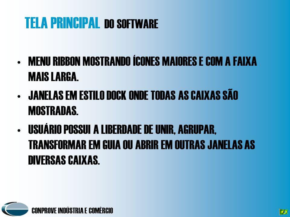 TELA PRINCIPAL DO SOFTWARE