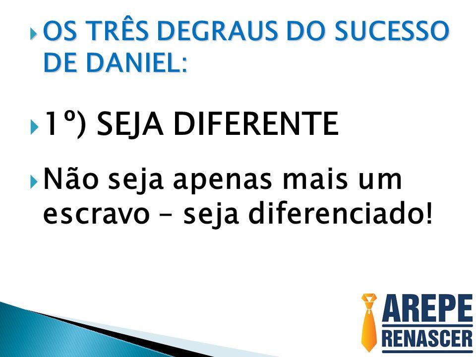OS TRÊS DEGRAUS DO SUCESSO DE DANIEL: