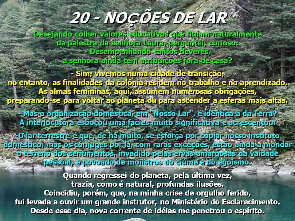 20 - NOÇÕES DE LAR