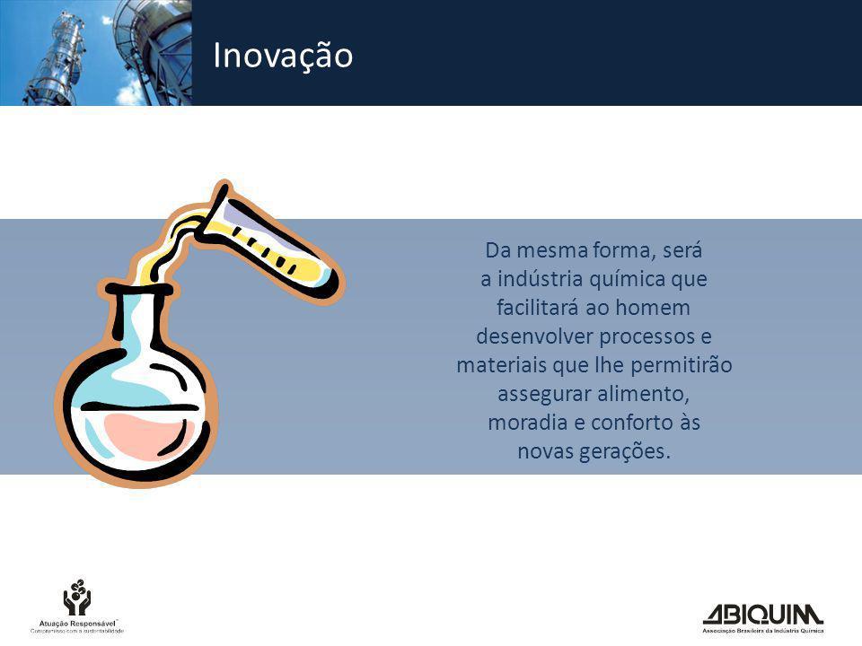 Inovação Da mesma forma, será a indústria química que