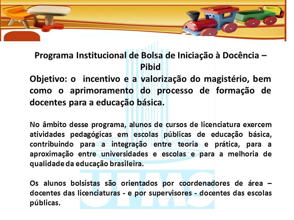 Programa Institucional de Bolsa de Iniciação à Docência – Pibid