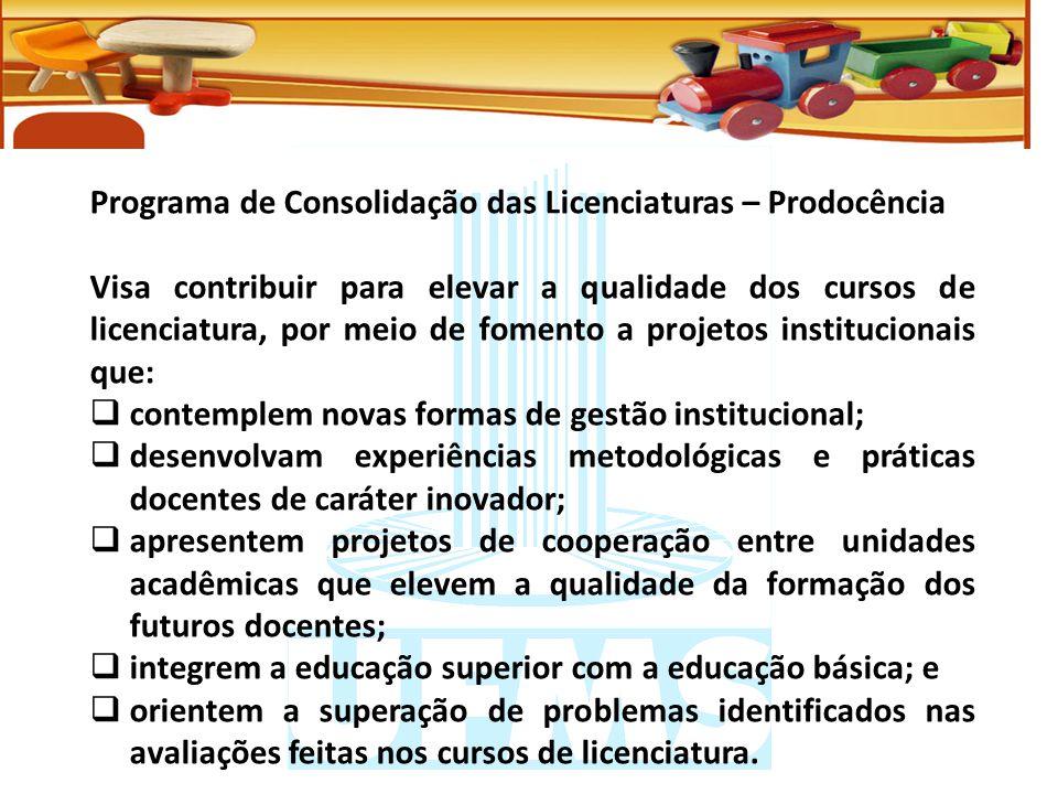 Programa de Consolidação das Licenciaturas – Prodocência