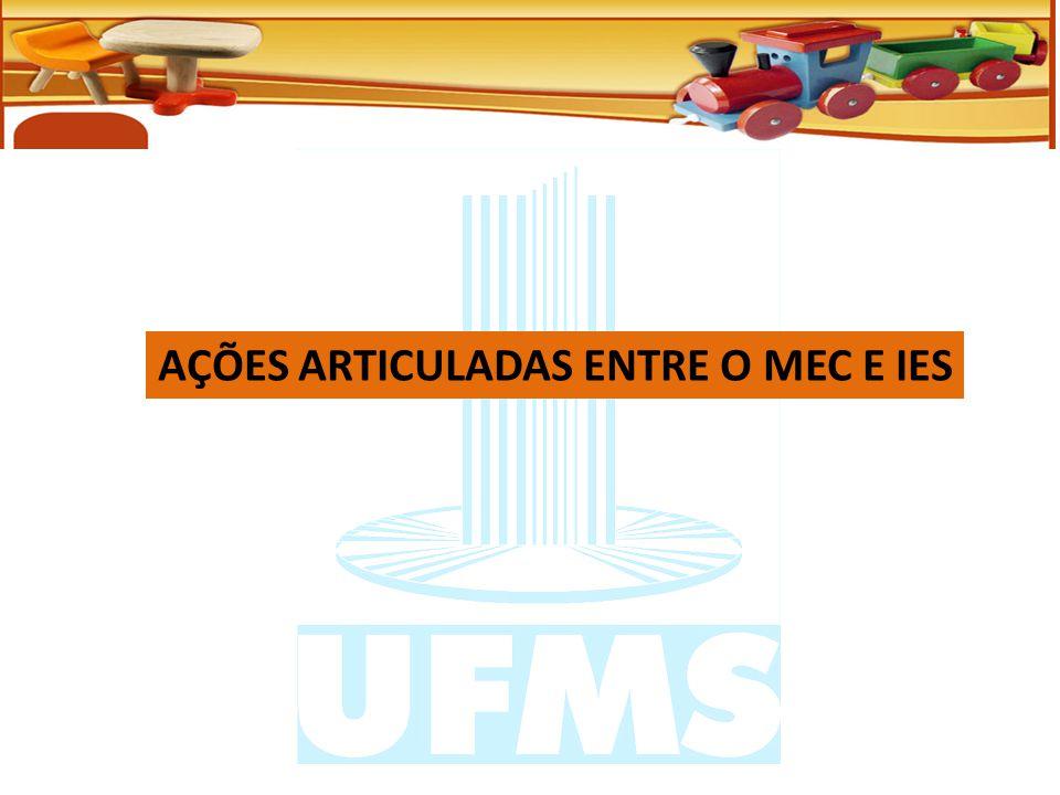 AÇÕES ARTICULADAS ENTRE O MEC E IES