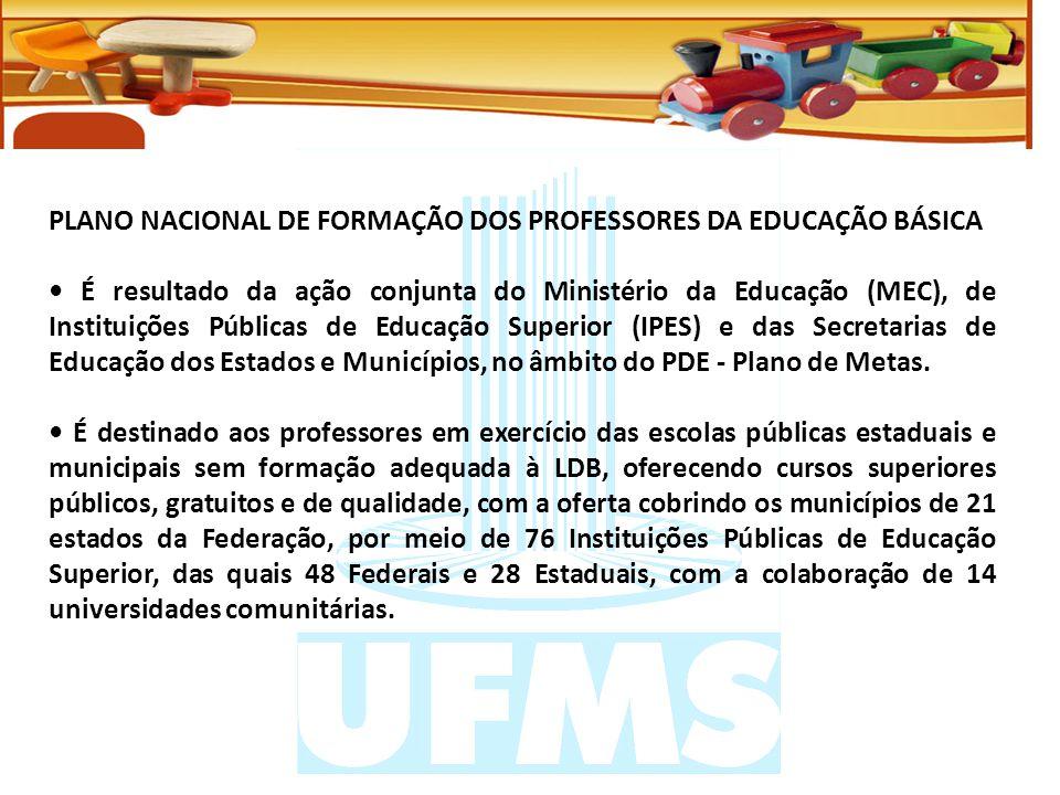 PLANO NACIONAL DE FORMAÇÃO DOS PROFESSORES DA EDUCAÇÃO BÁSICA