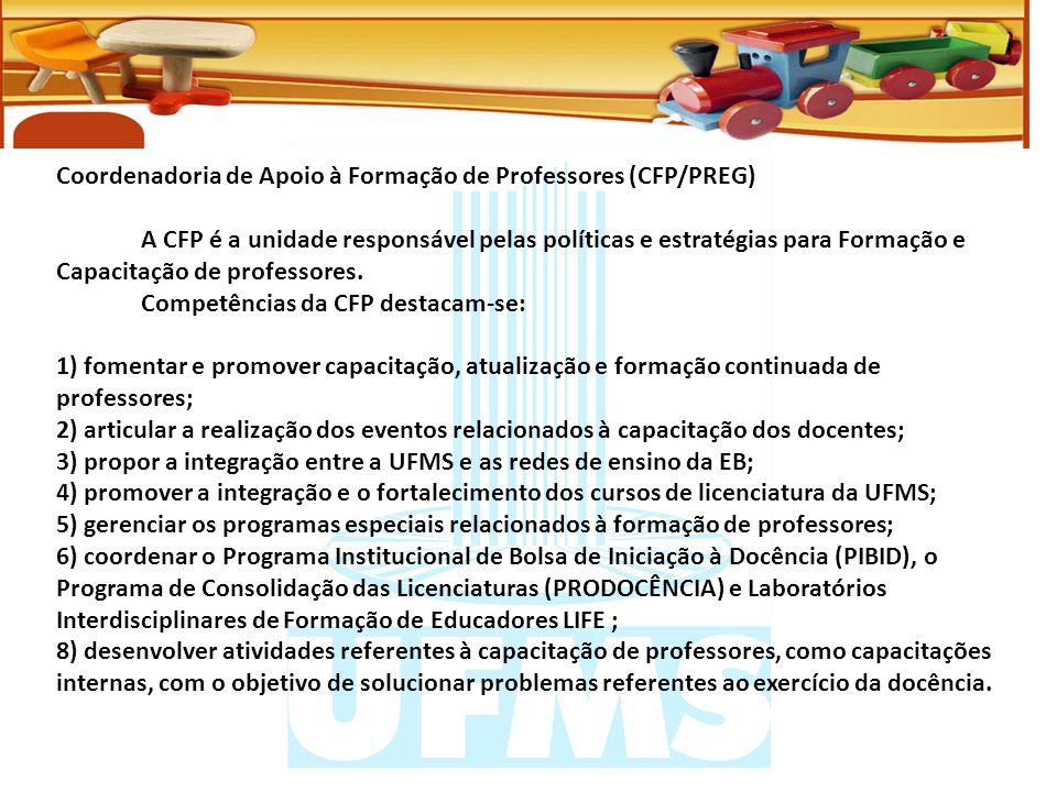 Coordenadoria de Apoio à Formação de Professores (CFP/PREG)