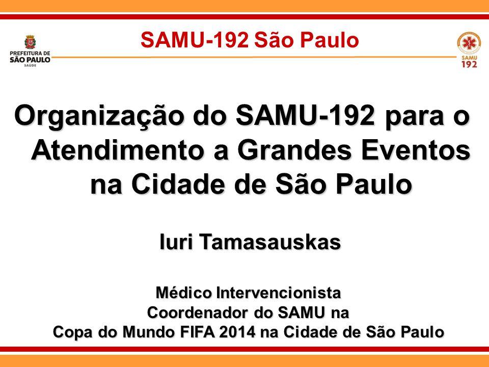 Médico Intervencionista Copa do Mundo FIFA 2014 na Cidade de São Paulo