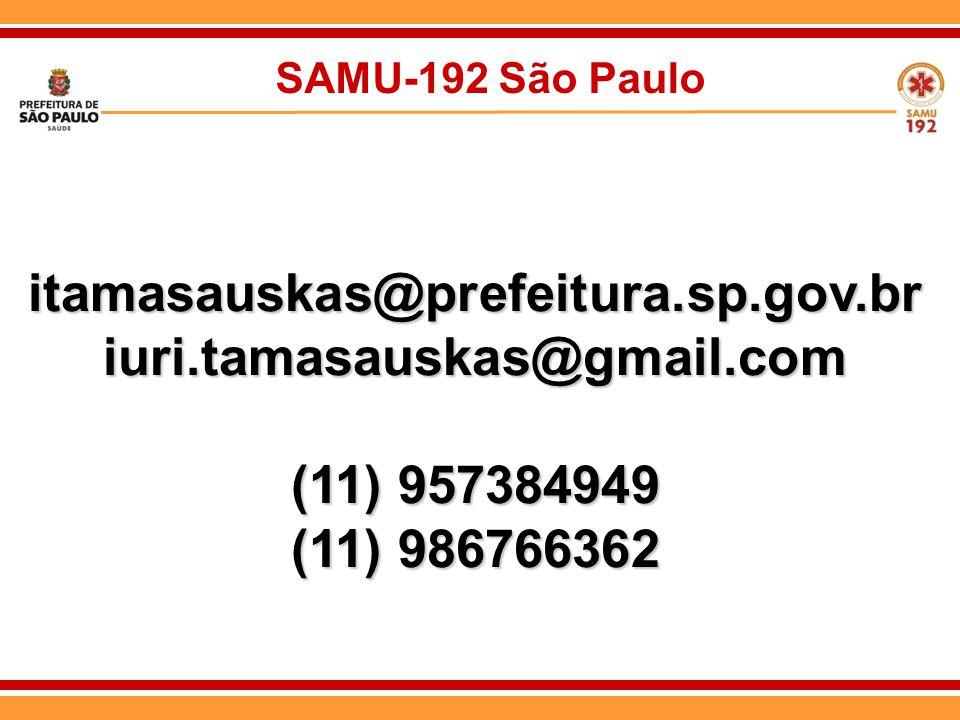 itamasauskas@prefeitura.sp.gov.br iuri.tamasauskas@gmail.com