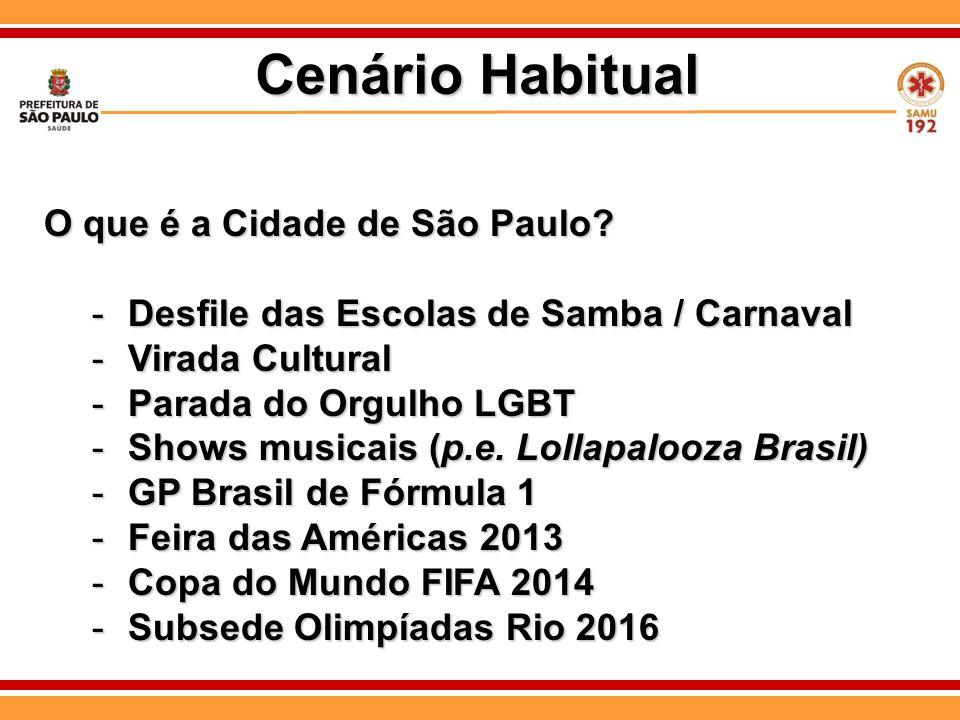 Cenário Habitual O que é a Cidade de São Paulo