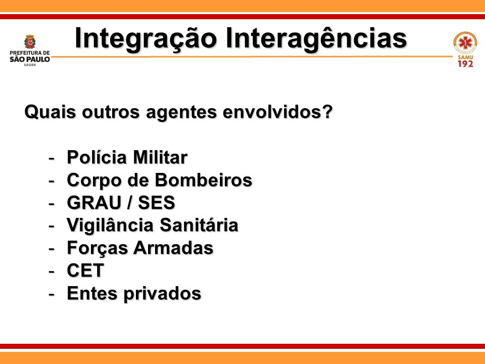 Integração Interagências