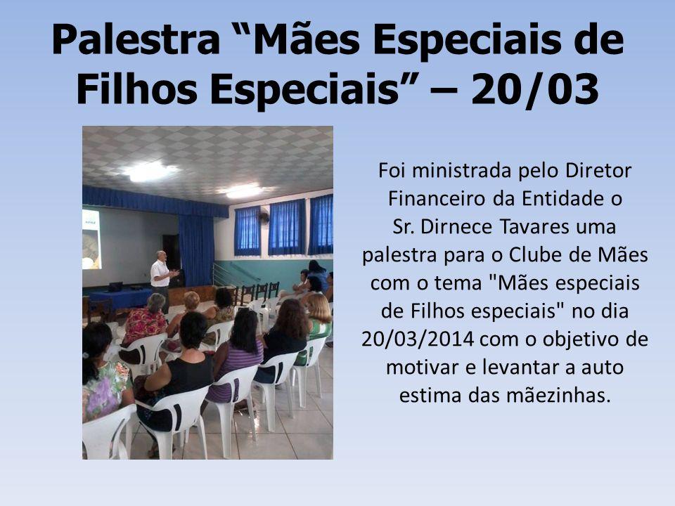 Palestra Mães Especiais de Filhos Especiais – 20/03