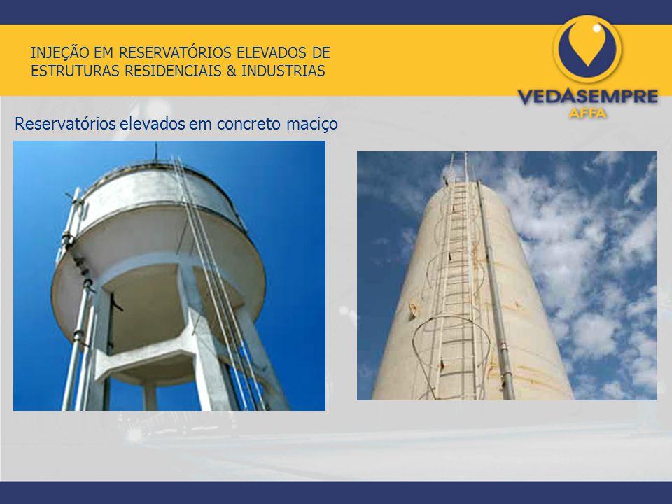 Reservatórios elevados em concreto maciço