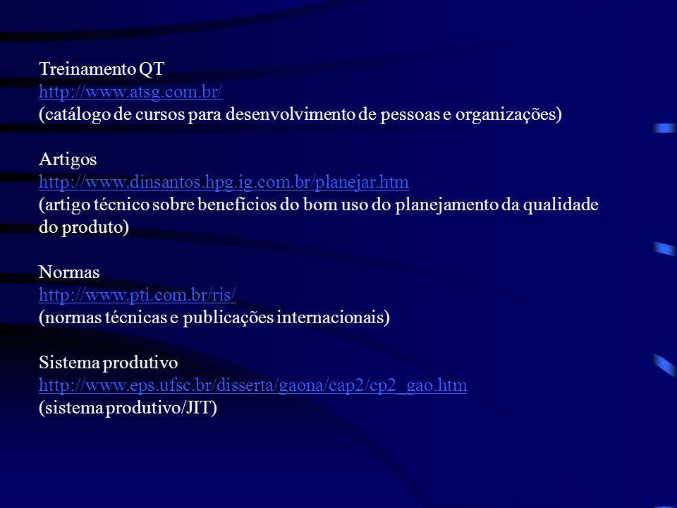 Treinamento QT http://www.atsg.com.br/ (catálogo de cursos para desenvolvimento de pessoas e organizações)