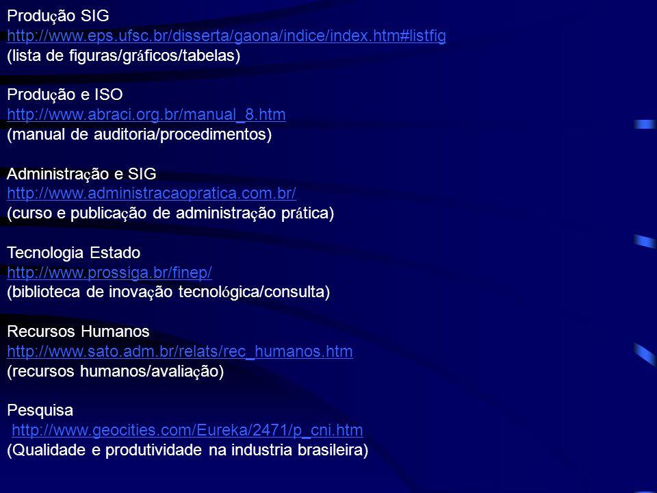 Produção SIG http://www.eps.ufsc.br/disserta/gaona/indice/index.htm#listfig. (lista de figuras/gráficos/tabelas)