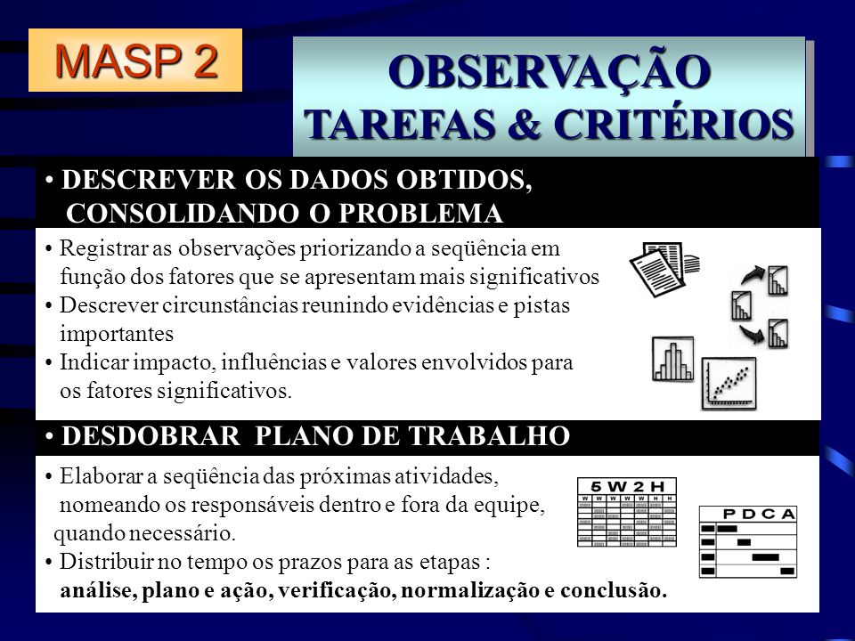 OBSERVAÇÃO MASP 2 TAREFAS & CRITÉRIOS DESCREVER OS DADOS OBTIDOS,