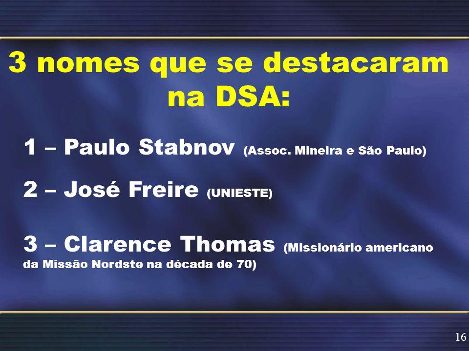 3 nomes que se destacaram na DSA: