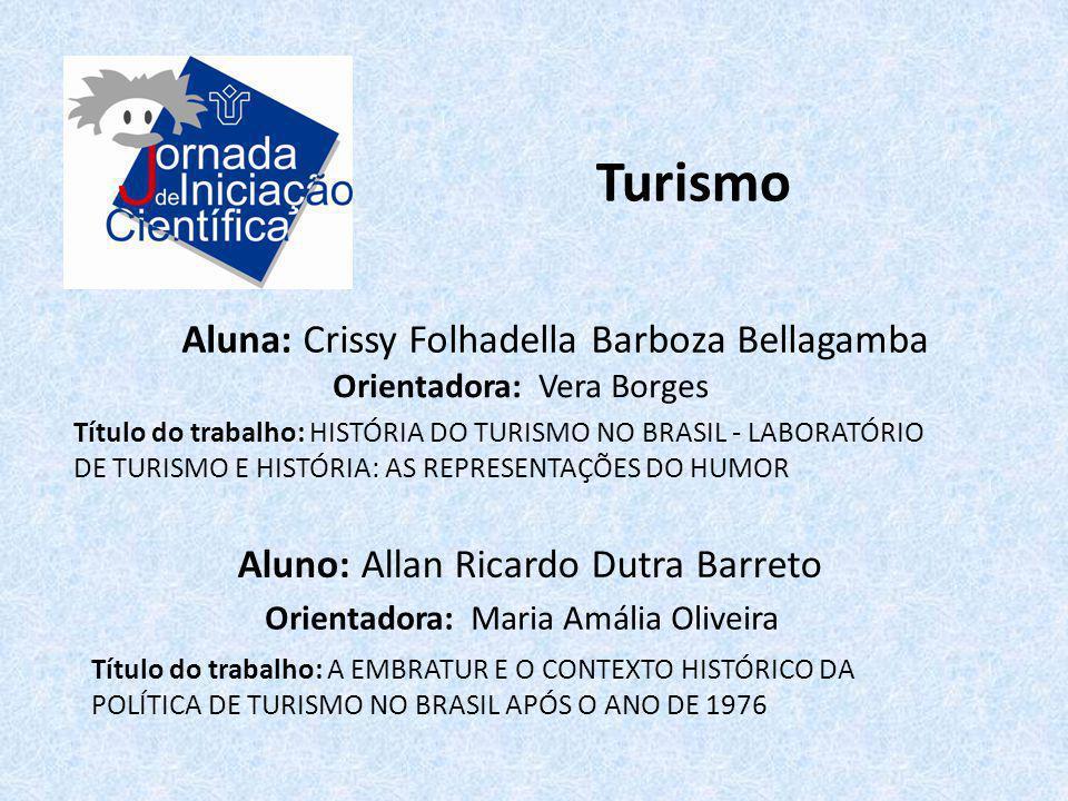 Turismo Aluna: Crissy Folhadella Barboza Bellagamba