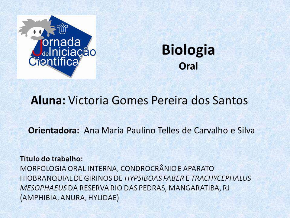 Biologia Aluna: Victoria Gomes Pereira dos Santos Oral