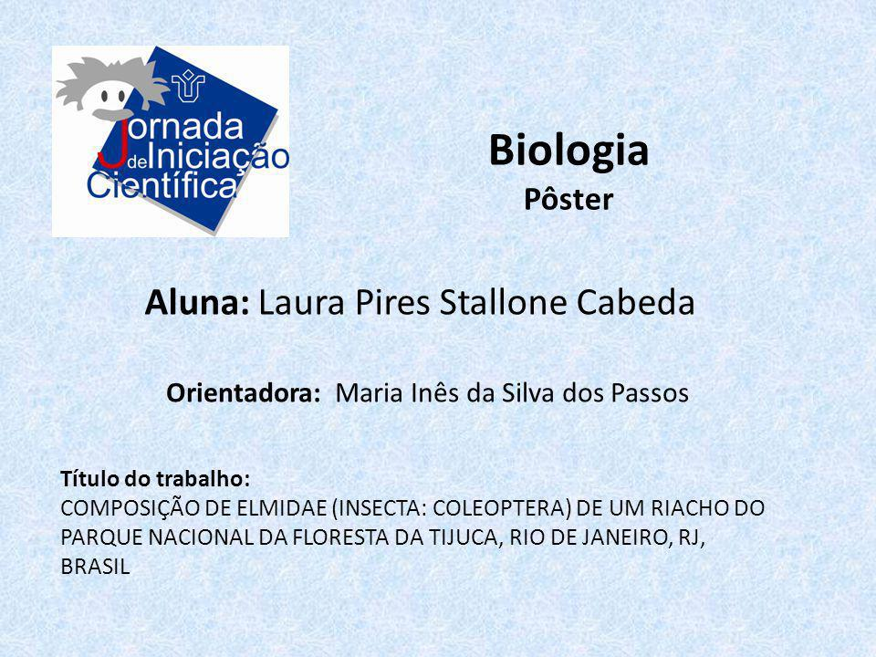 Biologia Aluna: Laura Pires Stallone Cabeda Pôster