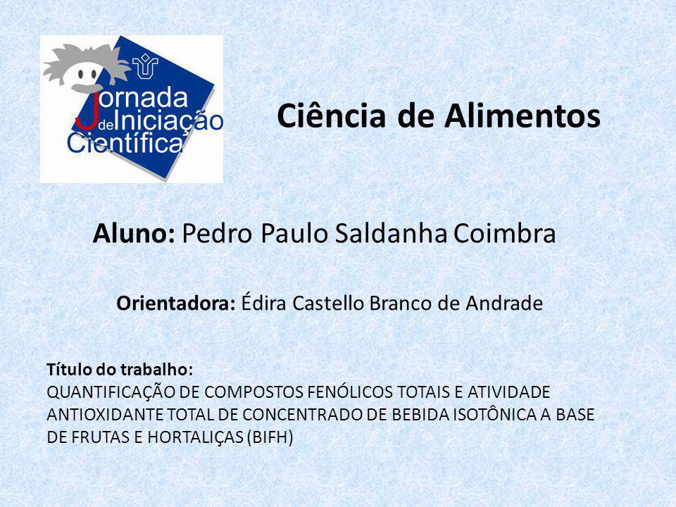 Ciência de Alimentos Aluno: Pedro Paulo Saldanha Coimbra
