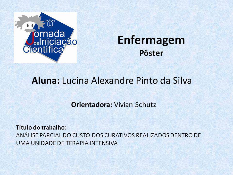 Enfermagem Aluna: Lucina Alexandre Pinto da Silva Pôster