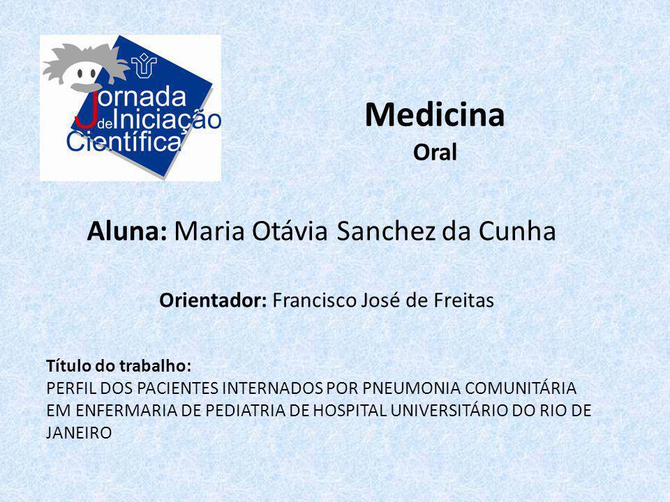 Medicina Aluna: Maria Otávia Sanchez da Cunha Oral