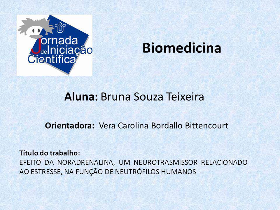 Biomedicina Aluna: Bruna Souza Teixeira