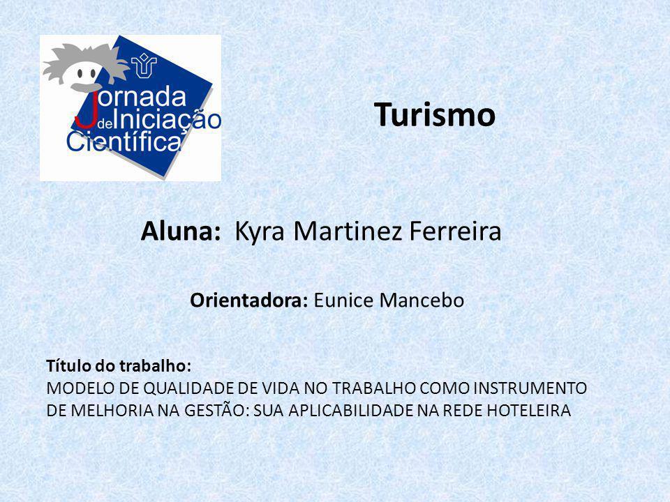 Turismo Aluna: Kyra Martinez Ferreira Orientadora: Eunice Mancebo