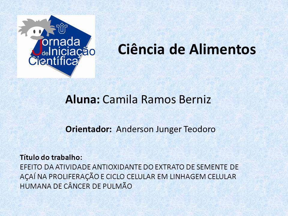 Ciência de Alimentos Aluna: Camila Ramos Berniz