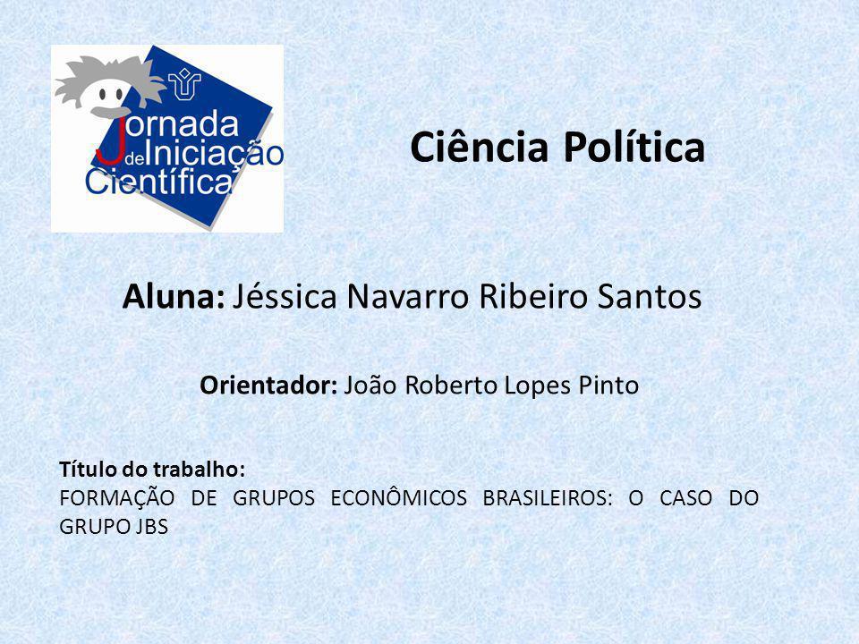 Ciência Política Aluna: Jéssica Navarro Ribeiro Santos