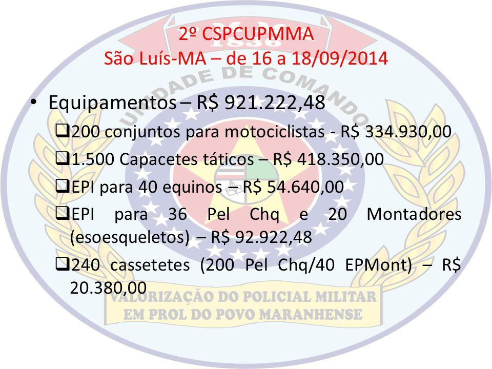 2º CSPCUPMMA São Luís-MA – de 16 a 18/09/2014