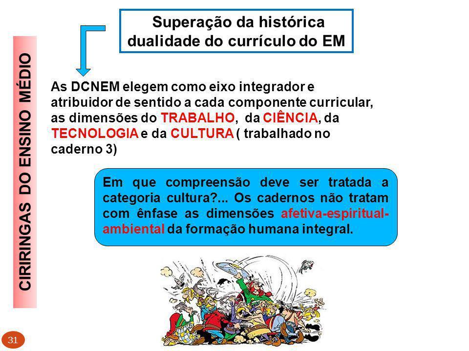 Superação da histórica dualidade do currículo do EM
